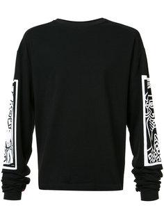 printed sleeves sweatshirt  Haculla