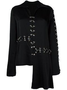 блузка с отделкой кольцами Christopher Kane