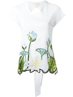футболка с цветочной вышивкой Ssheena