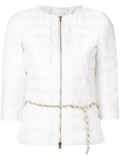 стеганая куртка с цепочной отделкой Herno