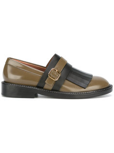 monk strap fringed loafers Marni