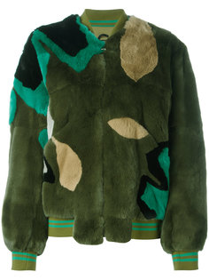panelled coat  Army Yves Salomon