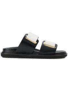 сандалии с пряжками Marni