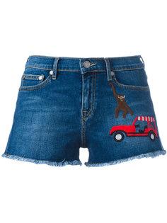 джинсовые шорты с нашивками Mira Mikati