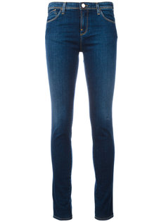 джинсы скинни с потертой отделкой Armani Jeans