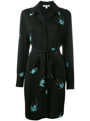 платье-рубашка с принтом птиц Diane Von Furstenberg