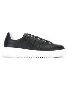 кроссовки с контрастным дизайном Emporio Armani