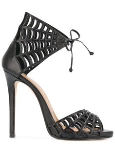 web motif stiletto sandals Marc Ellis