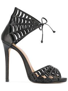 web motif stiletto sandals Marc Ellis