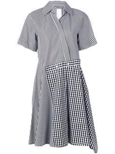 асимметричное полосатое платье Risorsa Sportmax