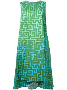 платье с принтом лабиринта  Ultràchic