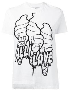 асимметричная футболка All is Love  Stella McCartney