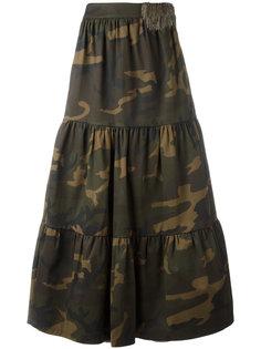длинная юбка с камуфляжным принтом Lédition