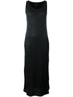 длинное платье без рукавов  Majestic Filatures