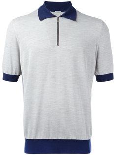 футболка-поло с контрастным воротником Malo
