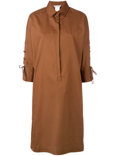 платье-рубашка с завязками на рукавах Max Mara