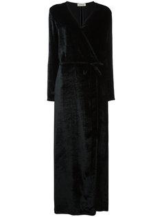 платье с V-образным вырезом с запахом Attico
