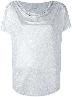 футболка с драпированным вырезом Majestic Filatures