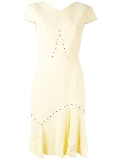 платье с плиссировкой Roland Mouret