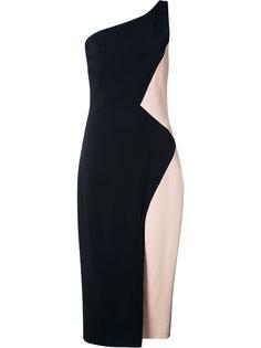 single shoulder bicolour dress Cushnie Et Ochs