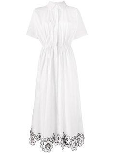 платье-сорочка с цветочным принтом Christopher Kane