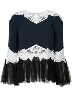 блузка с кружевными деталями Jonathan Simkhai