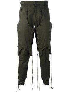 трикотажные брюки со шнуровкой Juun.J