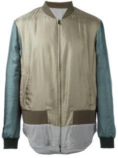 куртка с полосатой вставкой Fendi