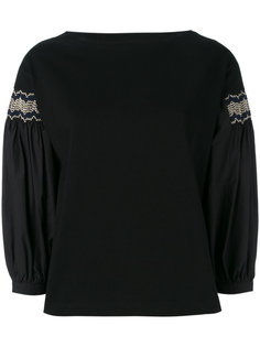 блузка с вышивкой Moncler