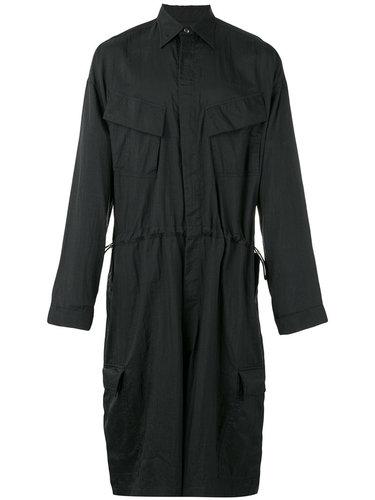 photo print cropped boiler suit Sankuanz