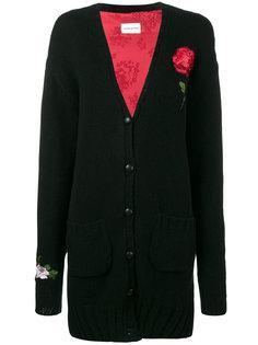 кашемировый кардиган с вышитыми розами Magda Butrym