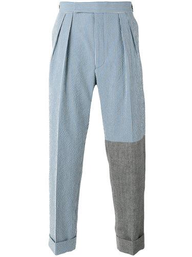 полосатые классические брюки Lardini