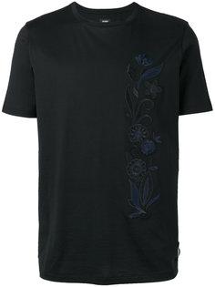 футболка с цветочной вышивкой Fendi