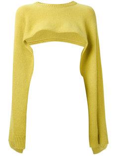 укороченный свитер с расклешенными рукавами Valentino