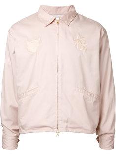 куртка-бомбер  с вышивкой monkey time