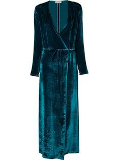 tied V-neck maxi dress Attico
