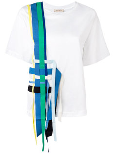 футболка с переплетенными лентами Erika Cavallini