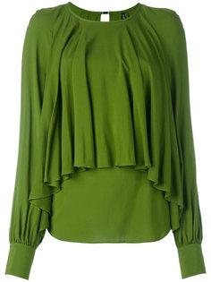 блузка с драпировкой Plein Sud