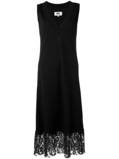 платье шифт с кружевной отделкой Mm6 Maison Margiela