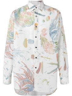 рубашка с акварельным принтом Salvatore Ferragamo