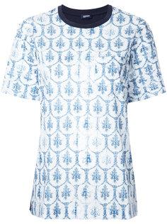 футболка с цветочным принтом Jil Sander Navy