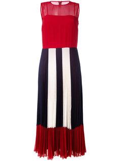 прозрачное плиссированное платье  Red Valentino