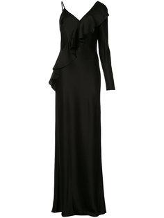 asymmetric ruffle dress  Diane Von Furstenberg