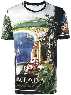 футболка с принтом Taormina  Dolce & Gabbana