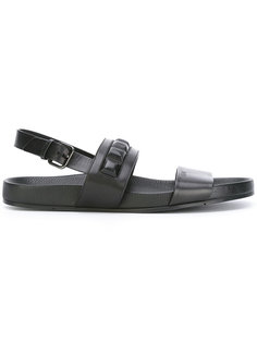 сандалии с заклепками Fendi