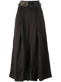 широкие укороченные брюки  Uma Wang