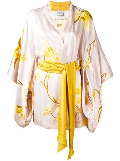 Orchidée print short kimono Carine Gilson