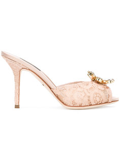 кружевные туфли с блестящей отделкой Dolce & Gabbana