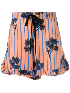 ruffle trim floral print shorts LAutre Chose
