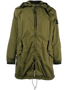 присборенное пальто с капюшоном  Stone Island